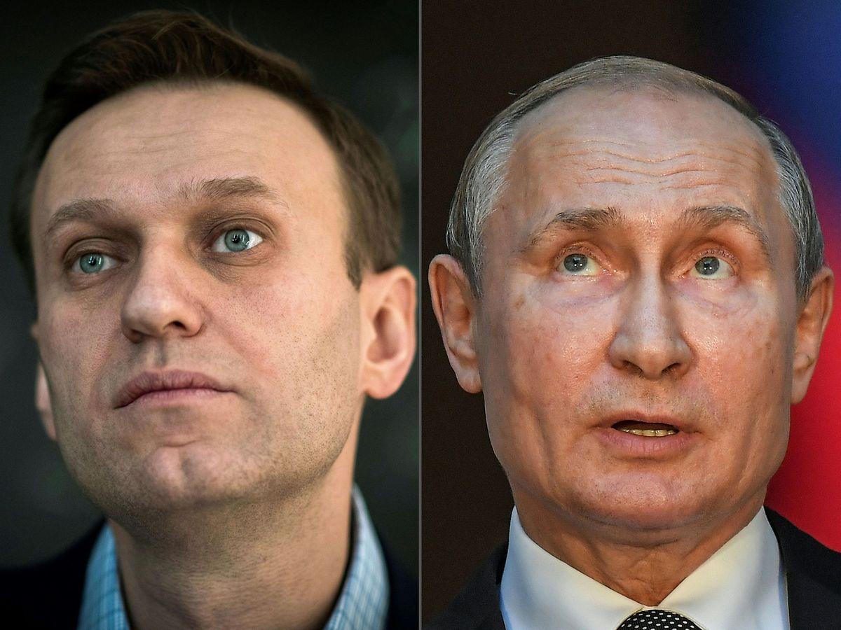 """Ein Sprecher Putins empfand die Anschuldigungen Nawalnys als """"beleidigend""""."""
