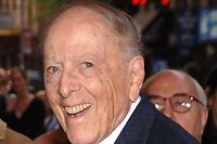 """(FILES) In this file photo taken on May 7, 2006 writer Herman Wouk attends the Broadway Opening of """"The Caine Mutiny Court-Martial"""" in New York City. - Wouk, author of the 1952 Pulitzer Prize winner """"The Caine Mutiny,"""" died May 17, 2019, at his home in Palm Springs, California, according to literary agent Amy Rennert. Wouk was 103. (Photo by Andrew H. Walker / Getty Images North America / AFP)"""
