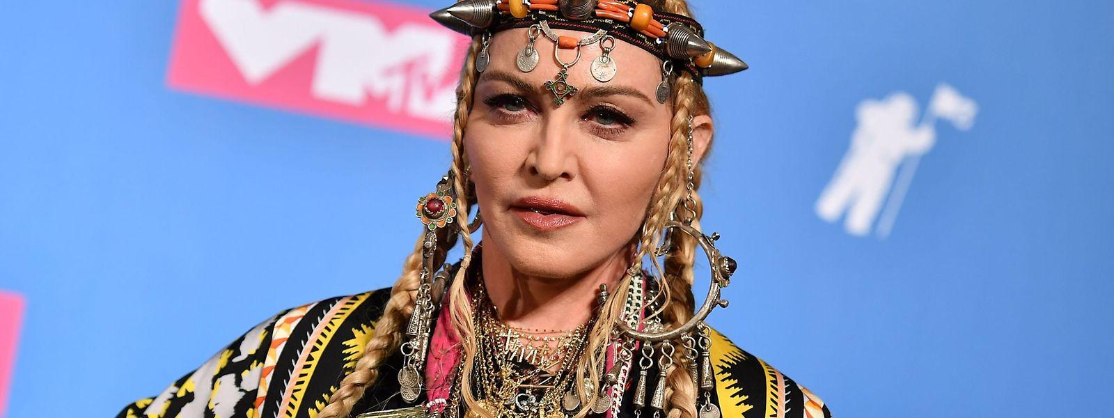 Madonna bei den MTV Video Music Awards in New York im August 2018.