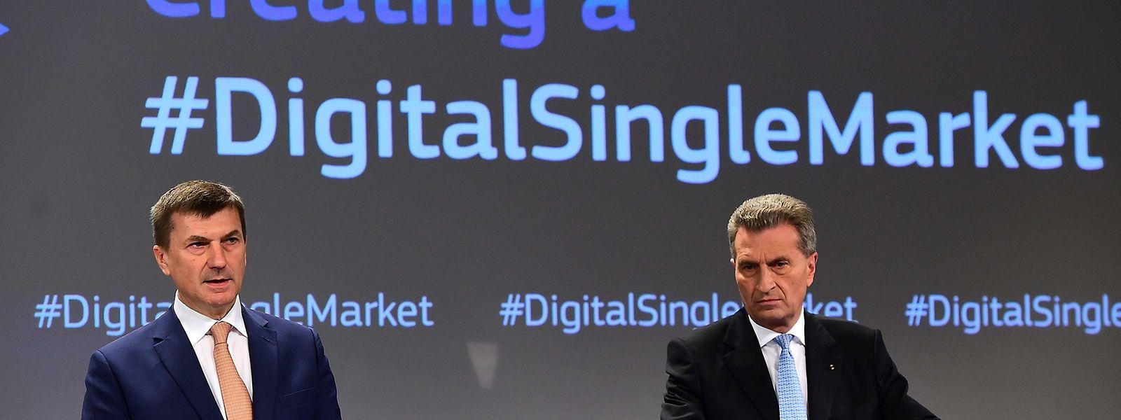 Insgesamt 16 Initiativen wollen Ansip und Oettinger bis Ende 2016 anstoßen