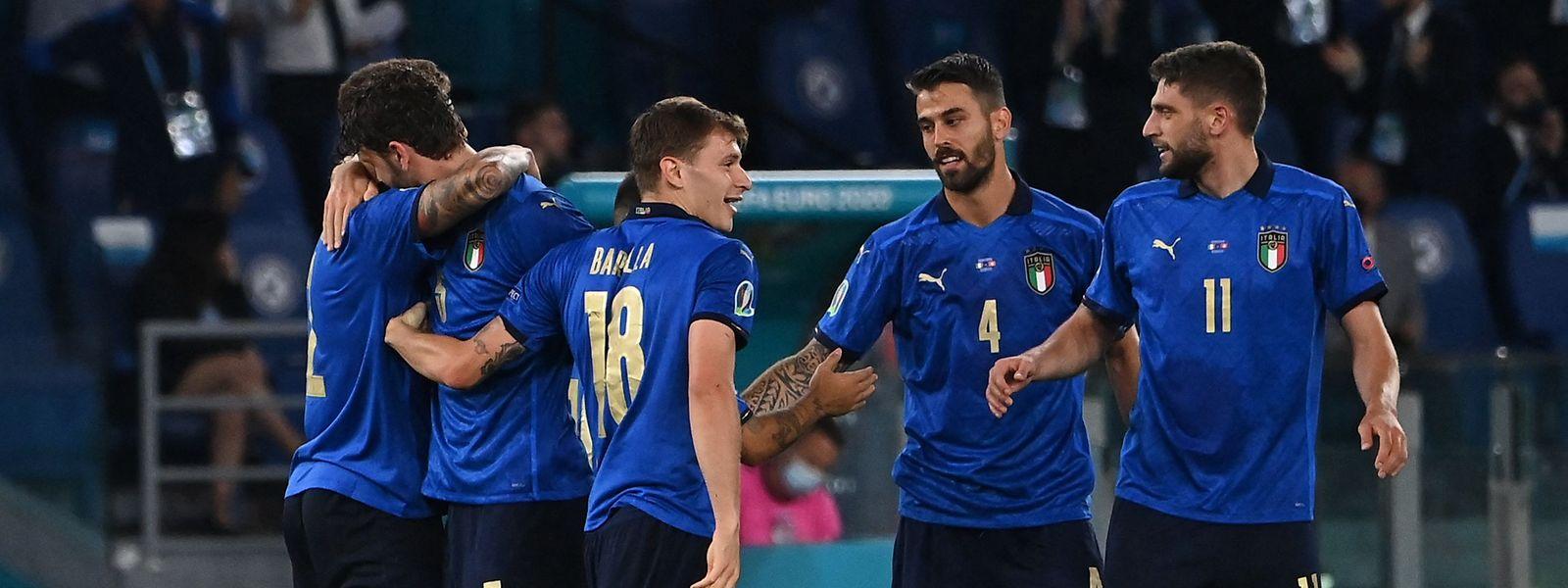 Die Italiener gewinnen auch das zweite Gruppenspiel.