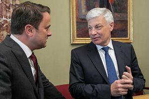 Se as eleições legislativas fossem em maio, provavelmente, Xavier Bettel (à esquerda) seria substituído como primeiro-ministro por Claude Wiseler, à direita, do CSV