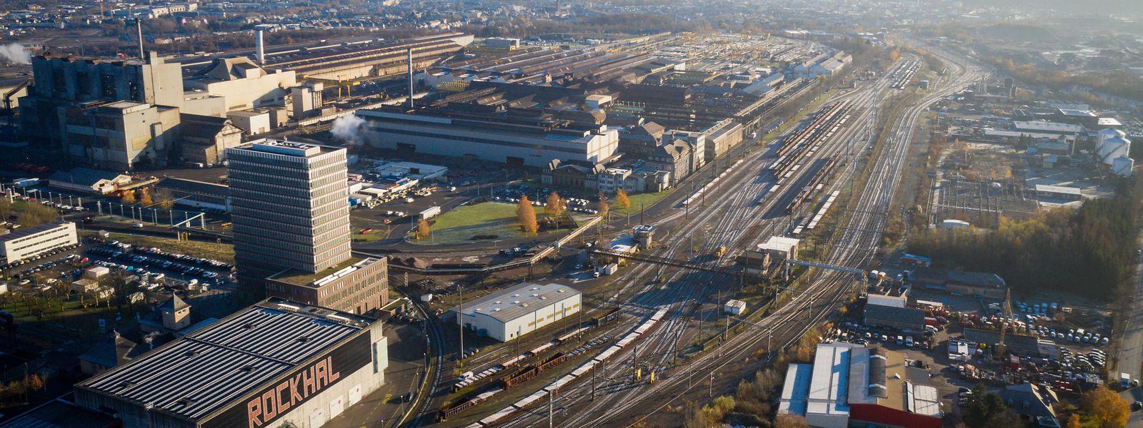 Der Ausgangspunkt des neuen Radweges wird sich in Nähe der Rockhal befinden und, über Stahlwerksgelände, bis zum Autohaus Losch führen.