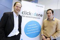 Le p.-d.g. de Trendiction, Robert Glaesener, et un des deux fondateurs de Talkwalker, Christophe Folschette