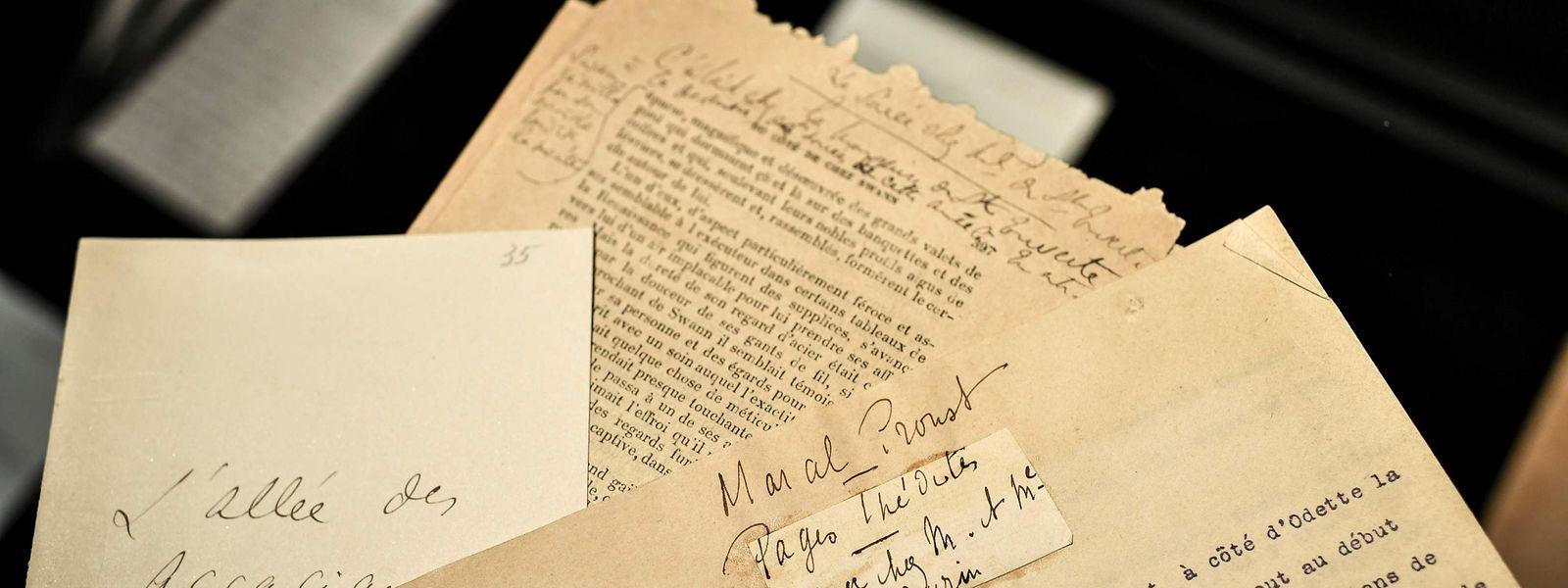 Einer der handgeschrieben Briefe von Marcel Proust an seinen Freund, den Kunstkritiker René Blum.