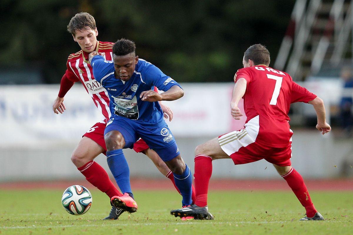 Joël Kitengé et Grevenmacher ont dominé le début de match avant de renter dans le rang après le repos.