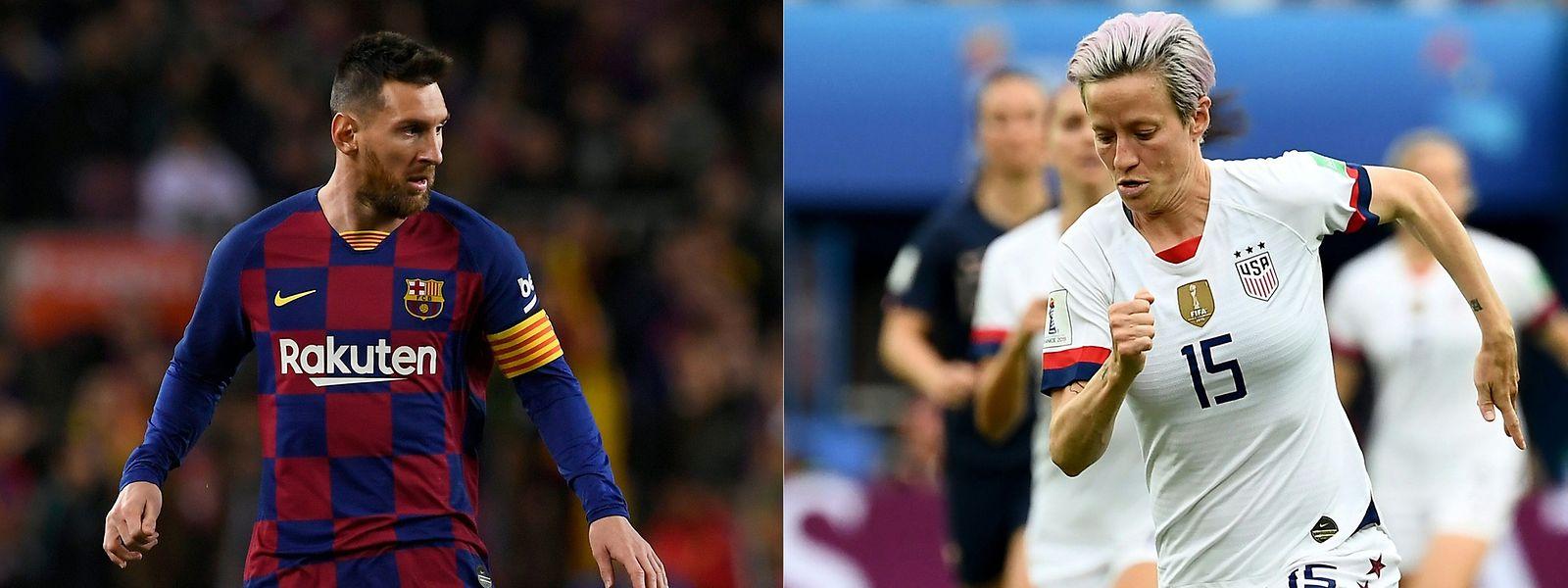 Lionel Messi und Megan Rapinoe sind eine Klasse für sich.