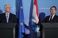 Pol, Conférence de presse avec Michel Barnier et Xavier Bettel, Premier Ministre au Château de Senningen, Foto: Chris Karaba/Luxemburger Wort