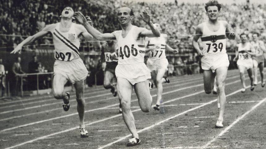 Josy Barthel bei seinem größten Triumph.