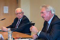 APO , Treffen Jean Asselborn  mit Riad Malki  , Aussenminister Palästina , Schloss Senningen , Foto:Guy Jallay/Luxemburger Wort