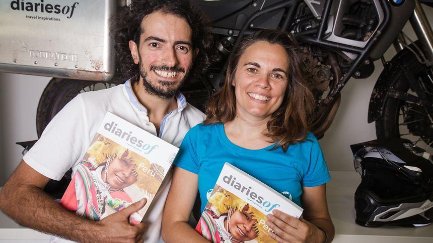 Jorge und Anabela Valente freuen sich auf ihre bevorstehende Motorradreise.