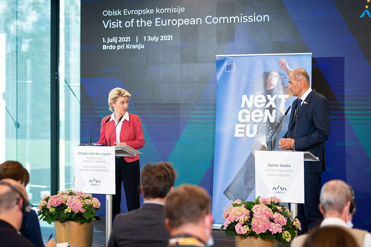 اورسولا فون در لاین ، رئیس کمیسیون اروپا از یانز یانسا ، نخست وزیر اسلوونی خواست تا در ماه ژوئیه به موضوع ریاست اتحادیه اروپا بپردازد.
