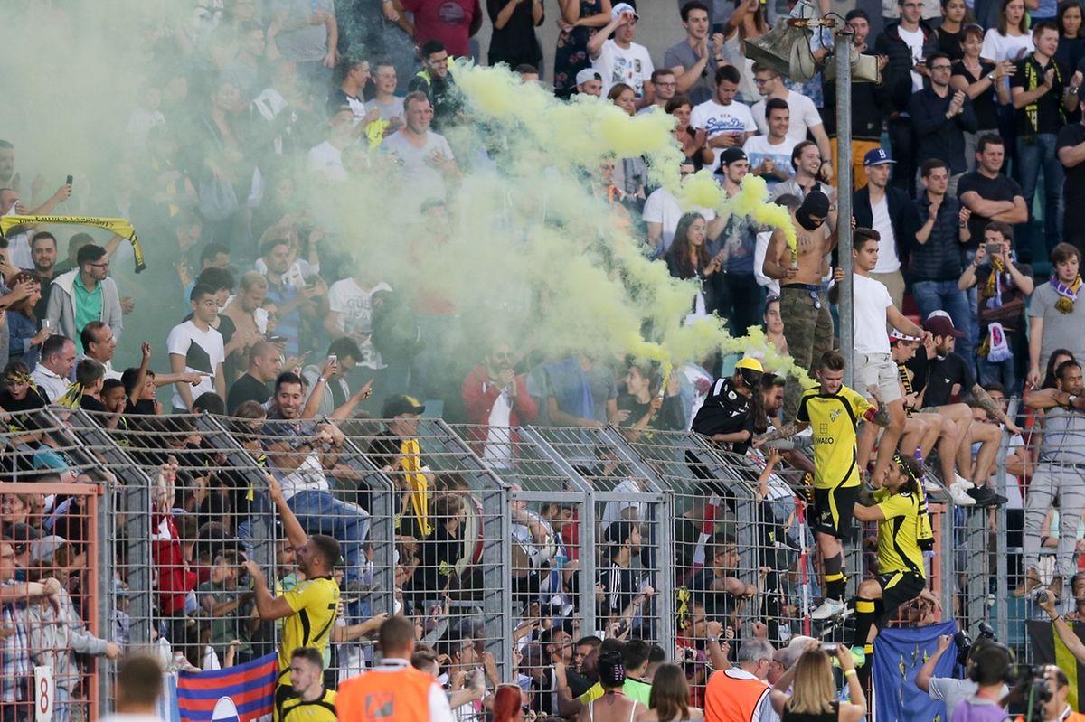 Sébastien Thill et Tony Mastrangelo avec leurs supporters.