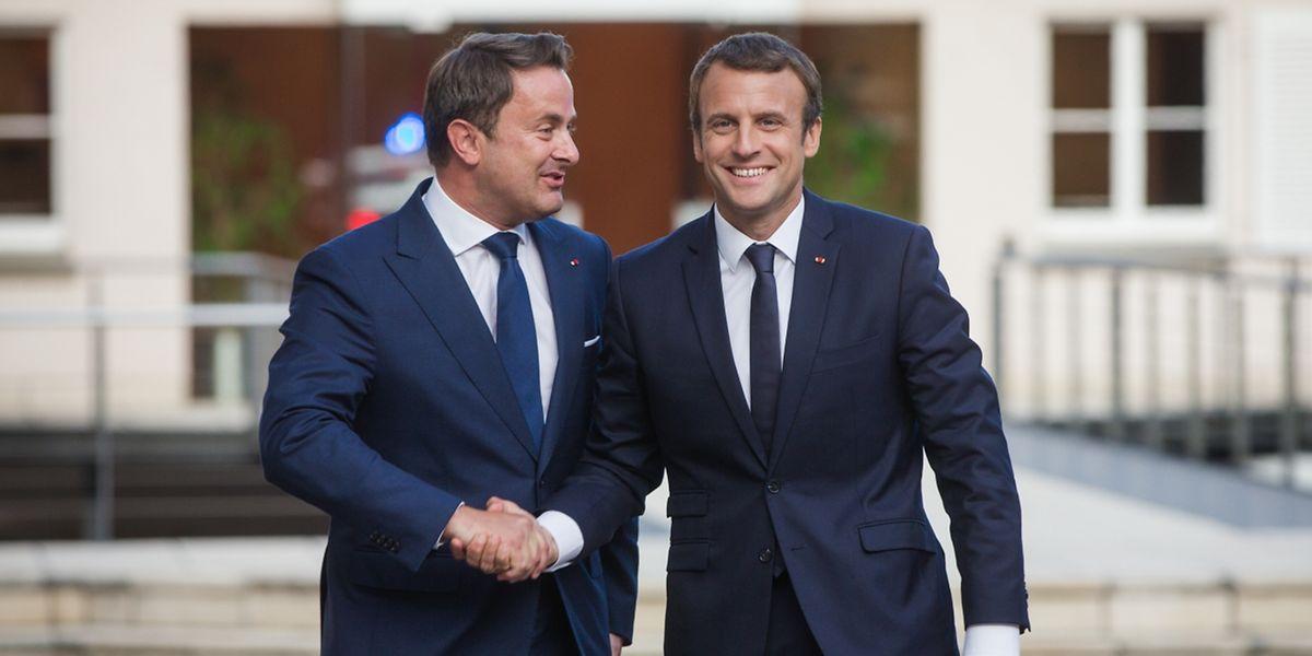 Bleiben Bettel (L) and Macron auch Kumpels in Eurofragen?
