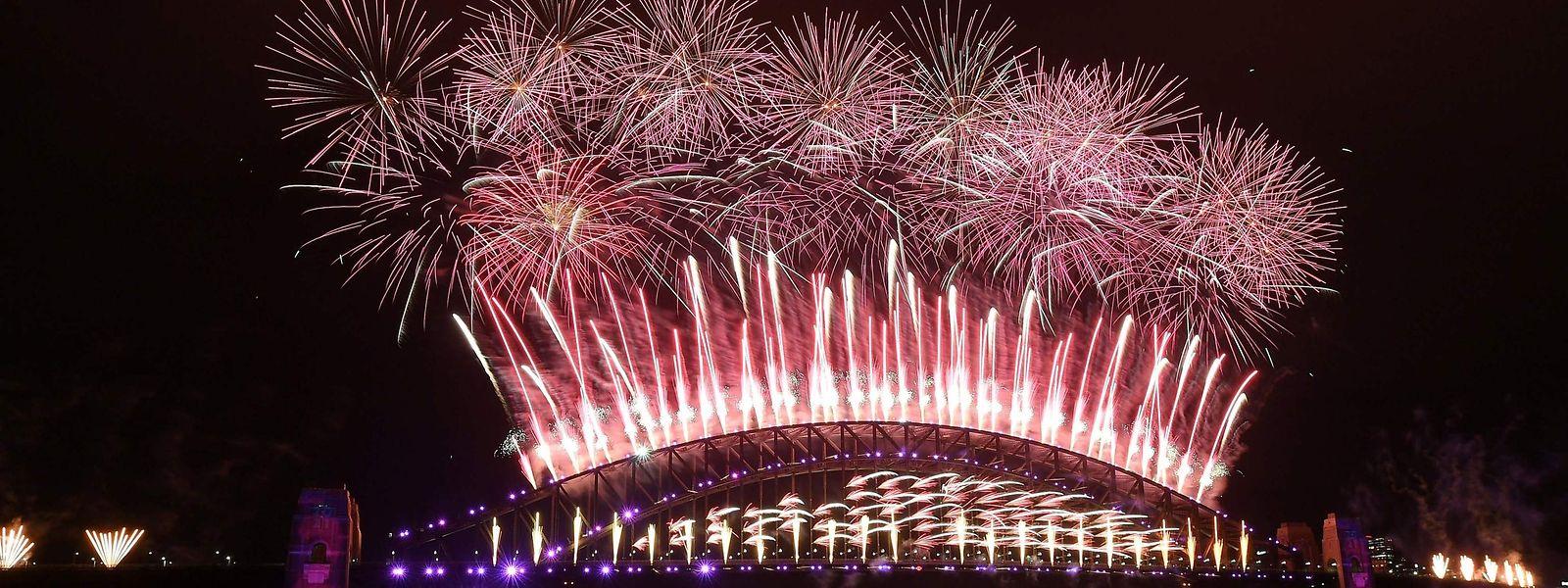 Das Feuerwerk in Sydney fand dieses Jahr ohne Zuschauer vor Ort statt.