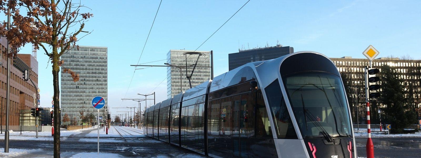 Le tram n'était plus alimenté en électricité durant une heure.
