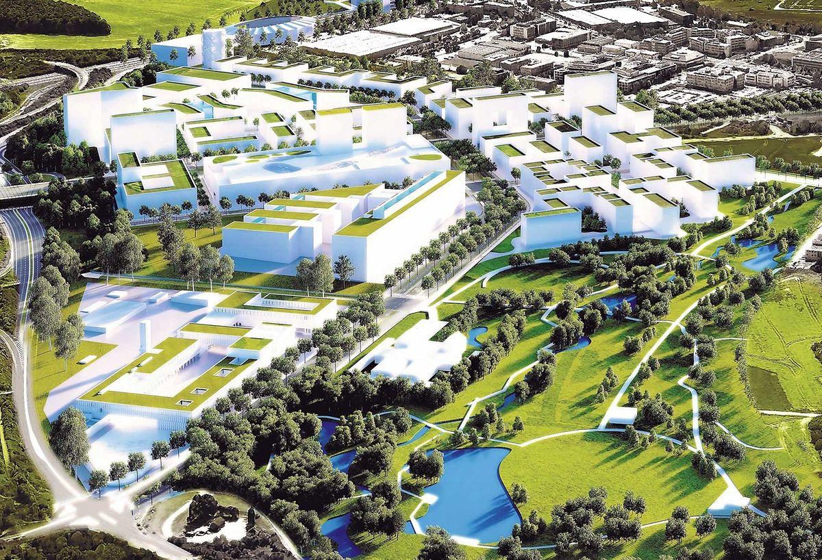 Avec quelque 16 hectares de surface, le futur parc du ban de Gasperich sera le plus grand de la capitale.