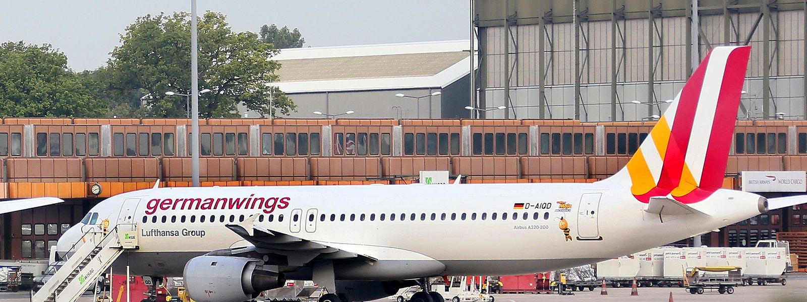 Un Airbus A320 le 29 août 2014 à l'aéroport de Berlin Tegel