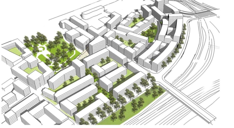 Le plan directeur du nouveau quartier Hollerich.