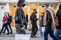 Lokales,Verkaufsoffener Sonntag /Stimmungsbericht. Geschäfte,Einkaufen,Shopping in Coronazeiten, hier: Fussgängerzone am Samstag. Foto: Gerry Huberty/Luxemburger Wort