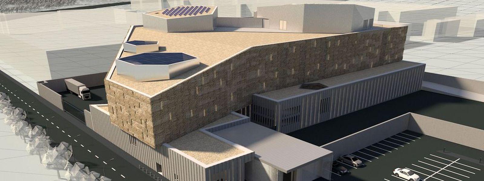 Das Freeport-Gebäude wird am Mittwoch offiziell in Betrieb genommen.