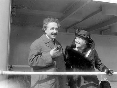Albert Einstein (1879-1955) German-born Swiss-American theoretical physicist, with Elsa Einstein his cousin and the second wife Albert Einstein (1879-1955) Elsa Einstein (1876-1936)