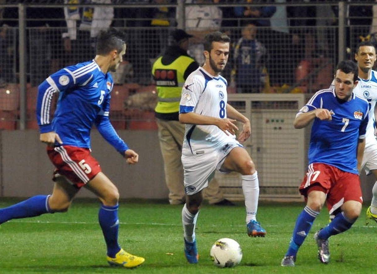 Miralem Pjanic une des vedettes de la sélection bosnienne.