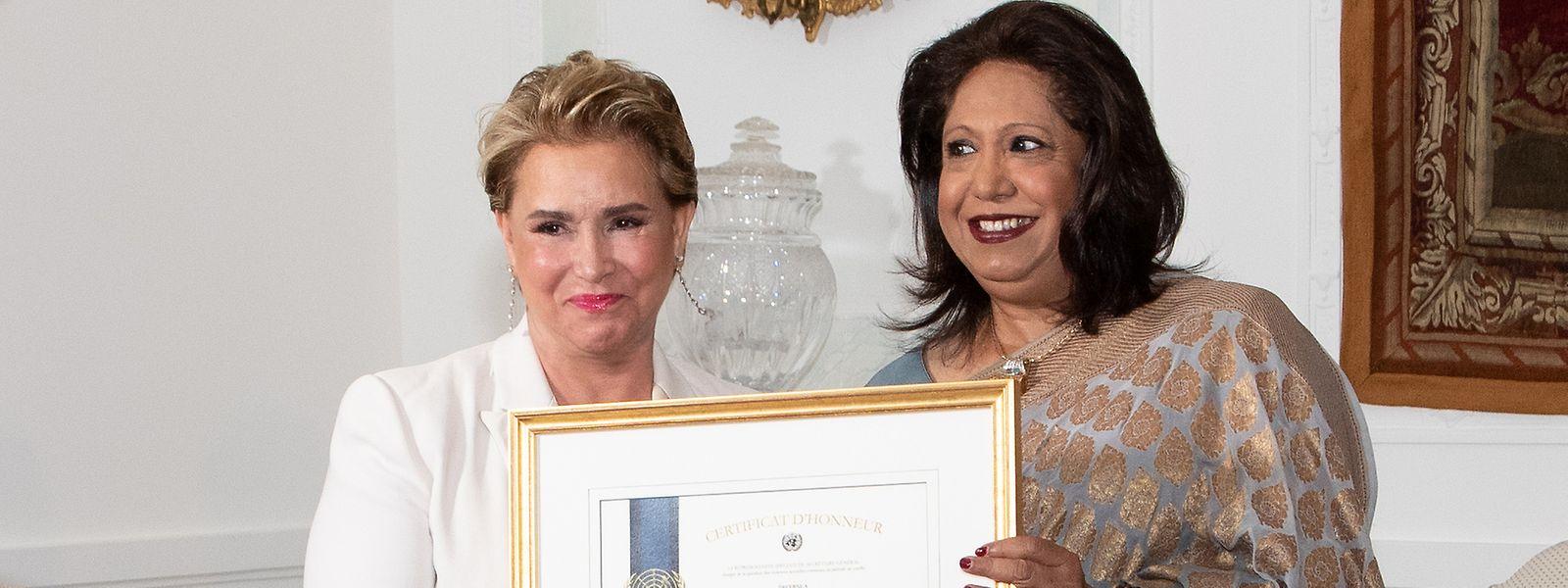 Auf Colmar-Berg konnte Großherzogin Maria Teresa die Auszeichnung entgegennnehmen.