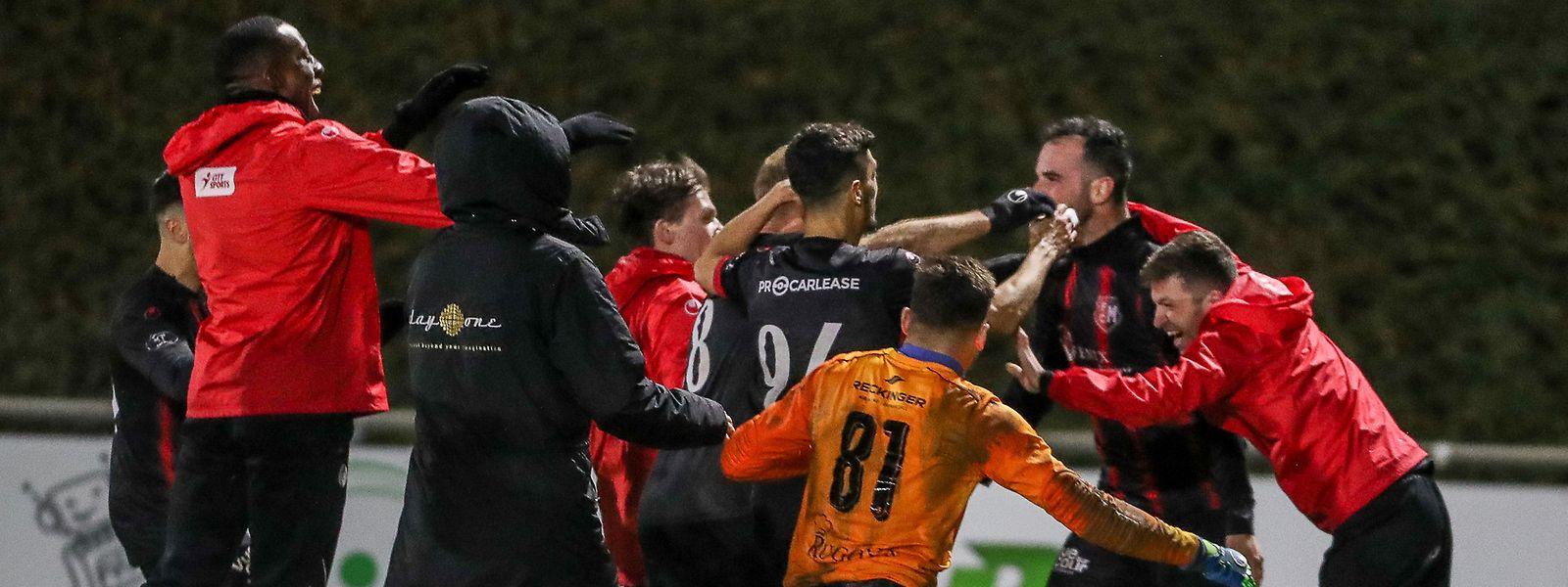 Le FC Mondercange a frappé fort en sortant le Fola  lors des 8es de finale de la coupe de Luxembourg
