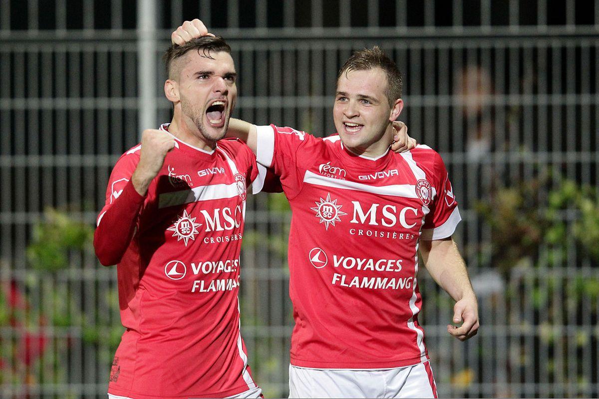 Amel Cosic et Emko Kalabic savourent le but wiltzois. Mais au final, les Nordistes ont concédé leur 8e défaite en dix rencontres.