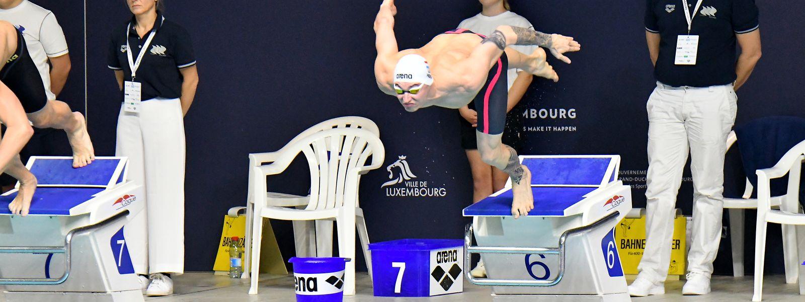 Julien Henx und die Luxemburger Schwimmer werden sich nicht in der Coque mit der internationalen Konkurrenz messen können.