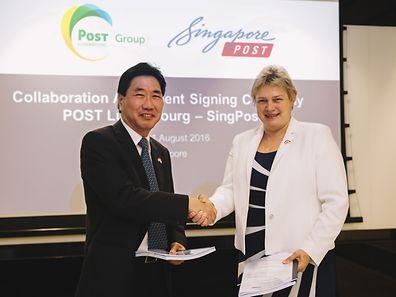 Die Postunternehmen aus Luxemburg und Singapur haben im Bereich der eCommerce-Logistik eine Partnerschaft beschlossen.