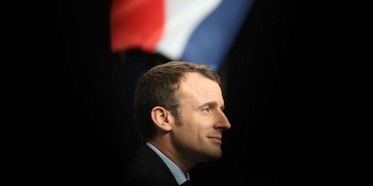 """Emmanuel Macron tritt für die neugegründete Gruppierung """"En Marche!"""" an."""