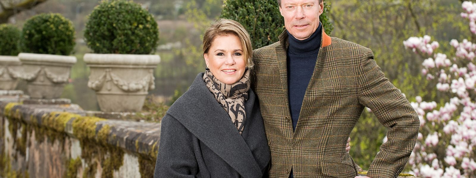 Großherzog Henri und seine Frau Maria Teresa auf Schloss Fischbach