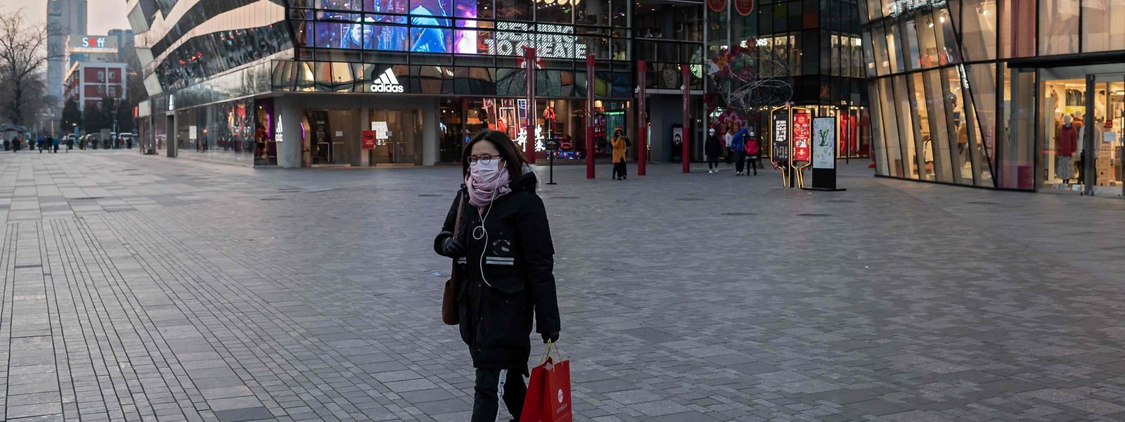 Wegen der Gesundheitskrise durch das Corona-Virus gleicht Peking einer Geisterstadt.