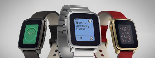 Die Pebble Time und Pebble Time Steel.