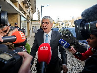 "The former Portugal's Prime Minister Jose Socrates speaks to the journalists on arrival at the Central Department of Investigation and Criminal Action (DCIAP) where he will be interrogated for the third time by the Public Prosecutor's Office under the ""Operation Marques"", in Lisbon, Portugal, 13 March 2017. The questioning of Socrates - indicted for corruption, qualified tax fraud and money laundering - should focus on the latest evidence relating to the business of Portugal Telecom (PT) and the transfer of several million euros Espirito Santo Group (GES) for the entrepreneur Carlos Santos Silva, named as the 'iron head' of the former socialist leader. NUNO FOX/LUSA"