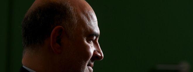 Pierre Moscovici rencontré ce vendredi au nouveau centre de conférences où les réunions européennes se tiennent.