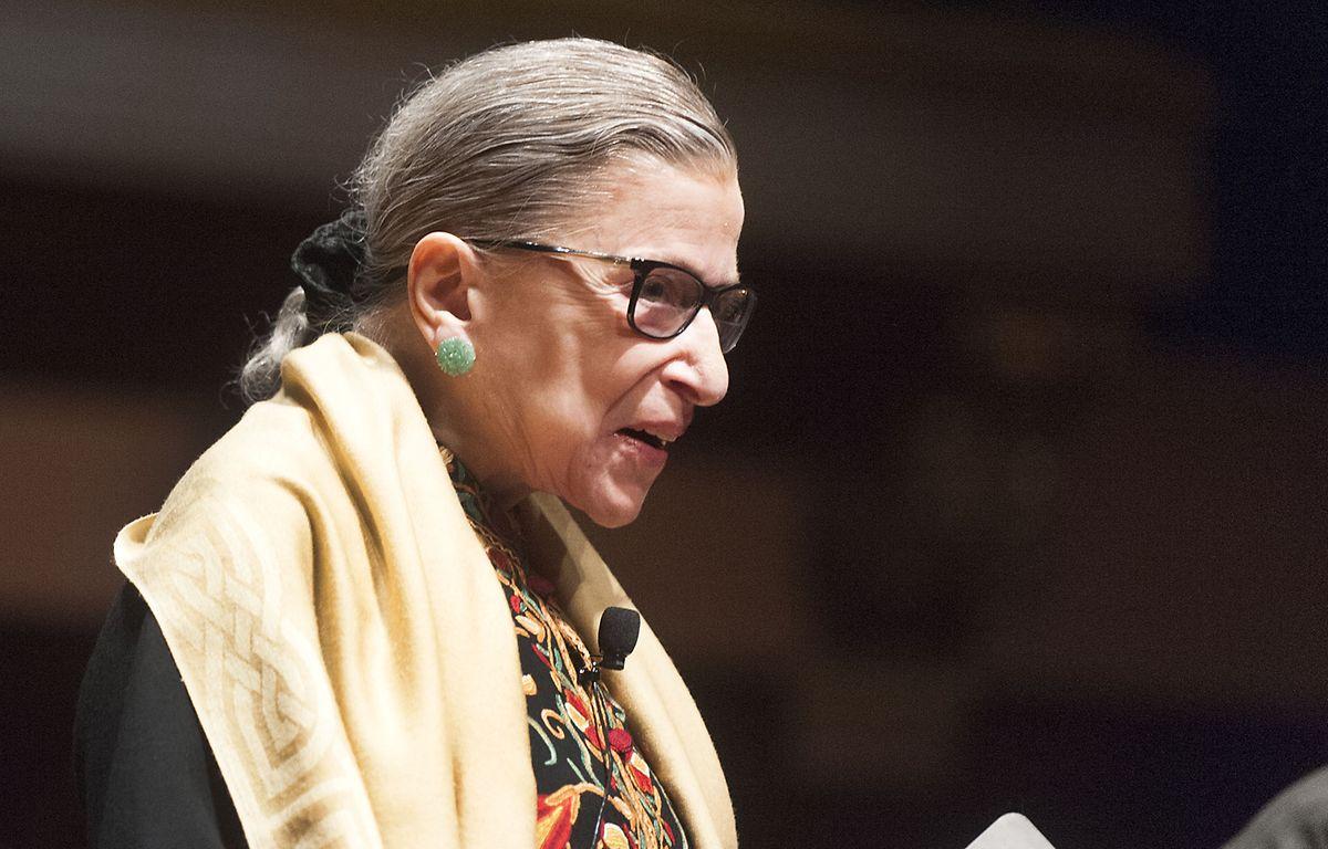 Ruth Bader Ginsburg, Richterin am Obersten Gericht der USA, bei einer Veranstaltung im Hill Auditorium auf dem Campus der University of Michigan.