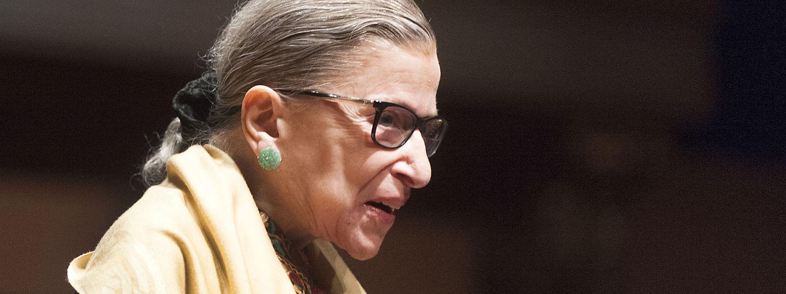Ruth Bader Ginsburg, Richterin am Obersten Gericht der USA, bei einer Veranstaltung im Hill Auditorium auf dem Campus der University of Michigan. Die amerikanische Justiz-Ikone ist im Alter von 87 Jahren gestorben.