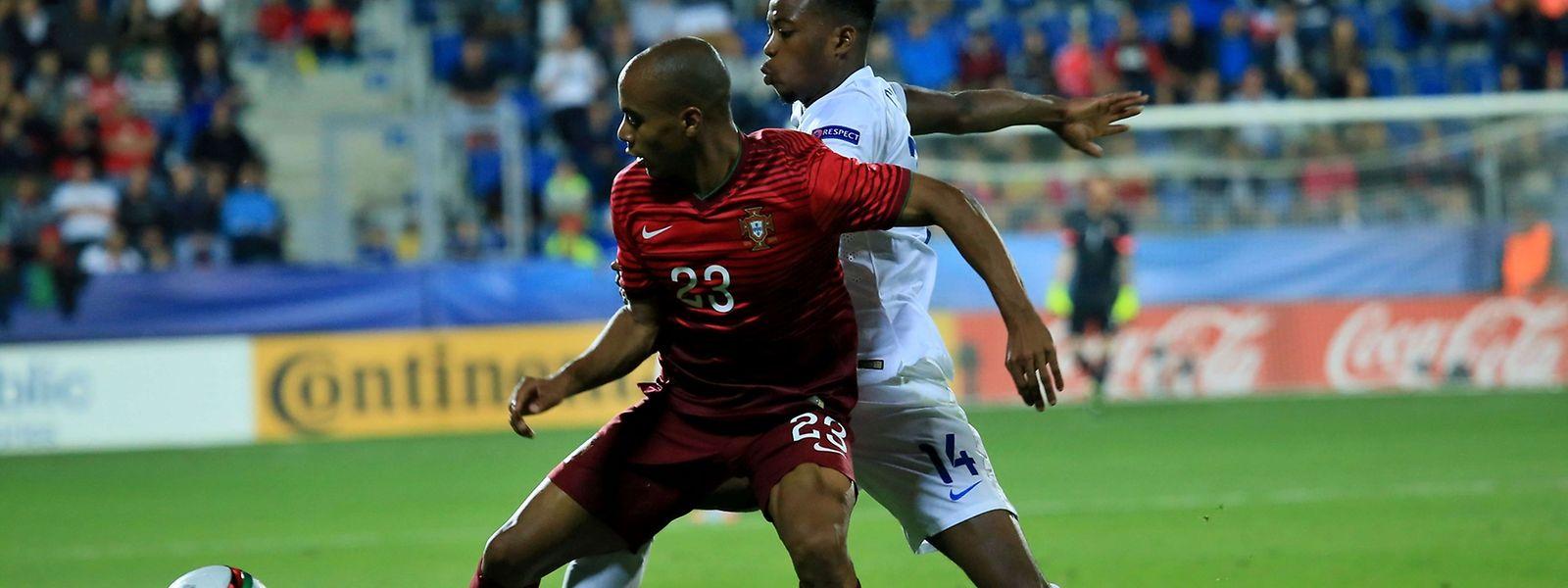 """Joao Mario (23) marcou o golo da vitória da equipa das """"quinas"""""""