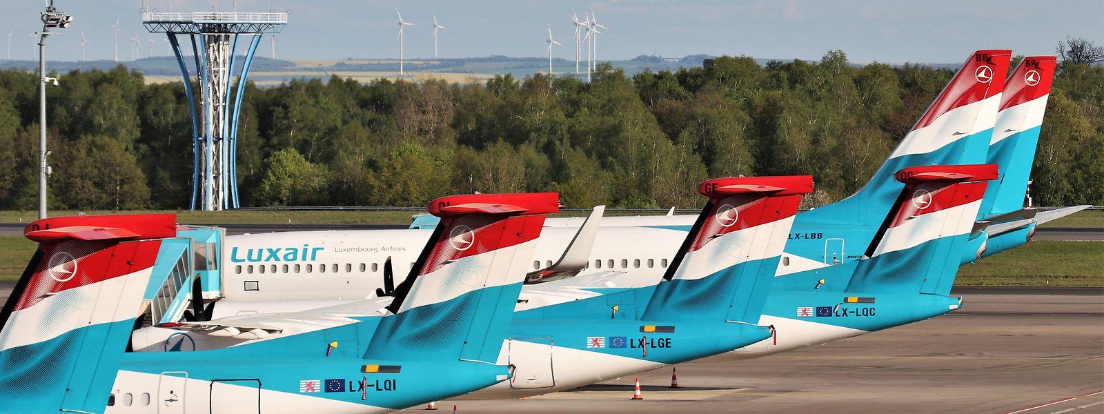 Opfer der Corona-Krise: Seit fast zwei Monaten befindet sich die Luxair-Flotte am Boden.