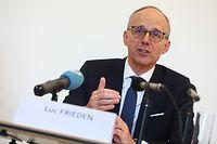 """Der Päsident der Handelskammer, Luc Frieden, bietet den Betrieben eine """"pragmatische, schnelle und wirksame"""" Hilfe an."""