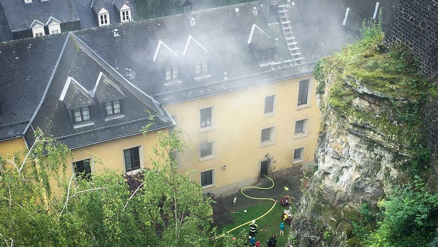 Der Brand hatte eine starke Rauchentwicklung zur Folge.