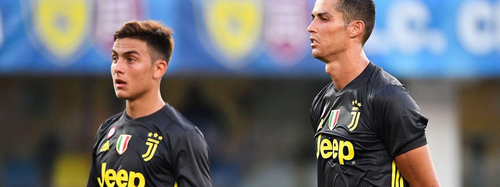 Cristiano Ronaldo com Paulo Paulo Dybala.