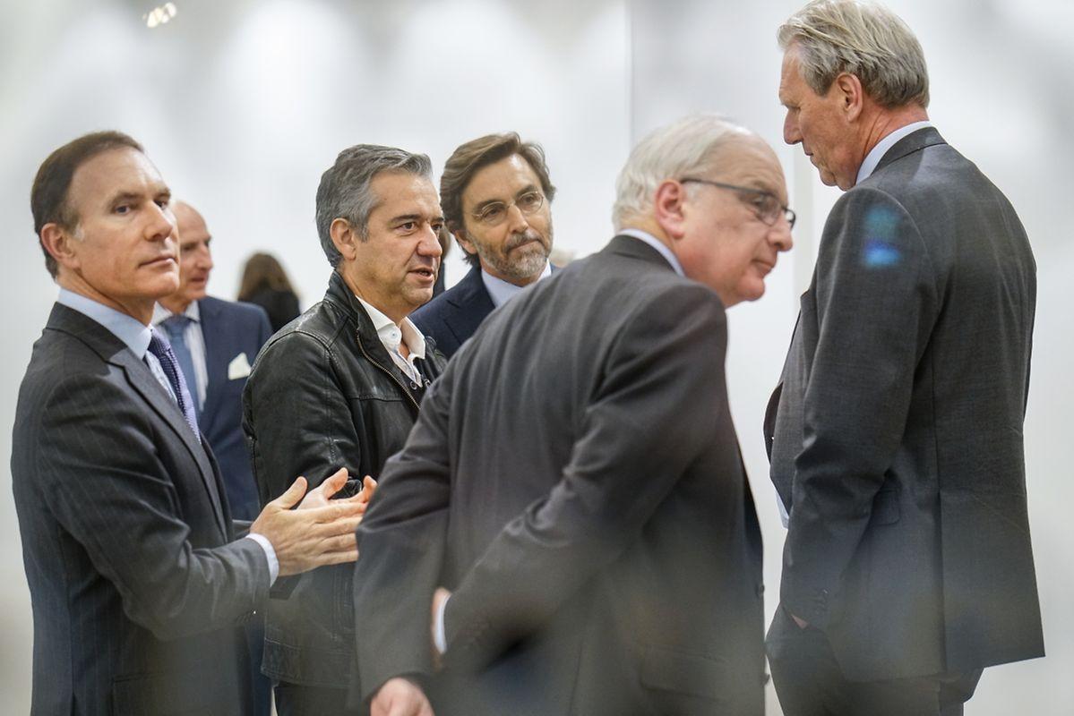 O secretário de Estado da Cultura do Luxemburgo, Guy Arendt (ao centro), foi um dos convidados para a inauguração.