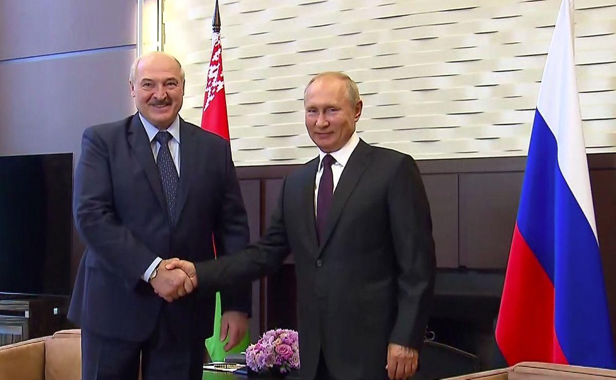 Einer von Lukaschenkos mächtigsten Unterstützern ist der russische Präsident Vladimir Putin.