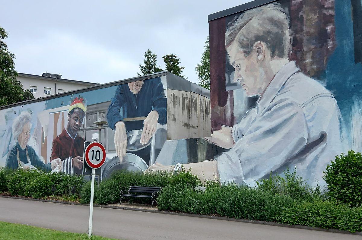 """Helen Bur's mural entitled """"Living Together"""""""