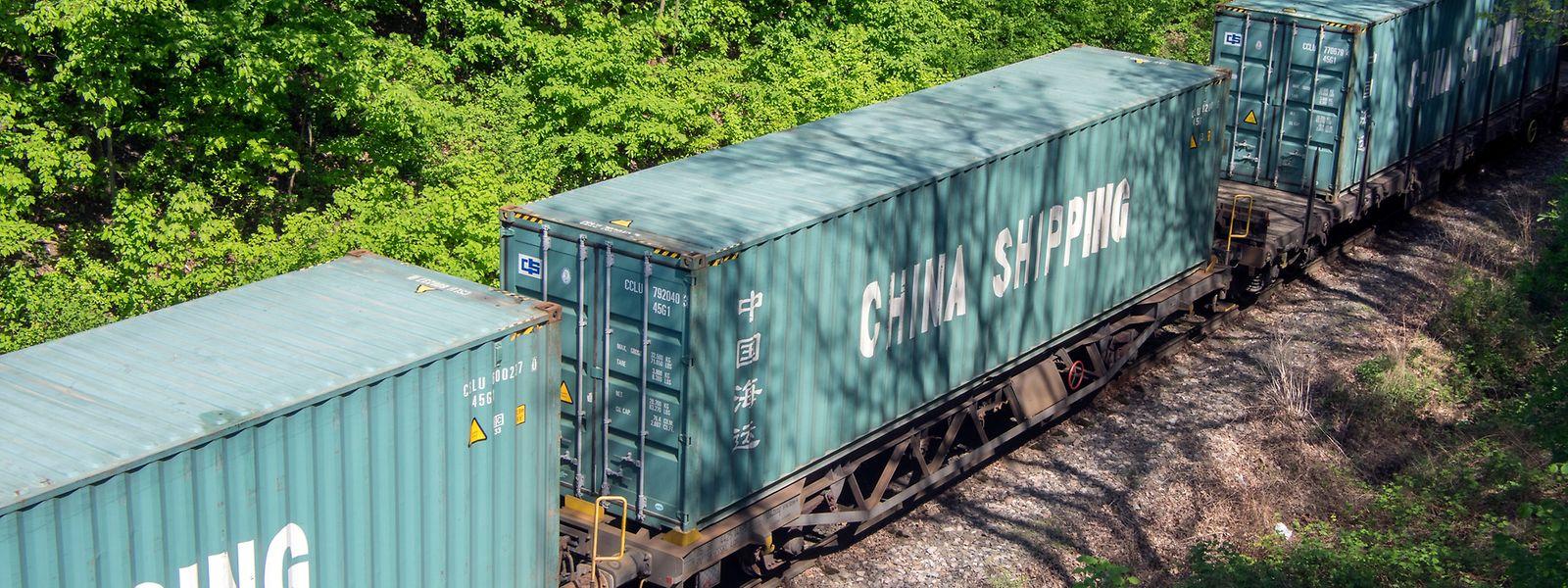 Normalerweise sind solche Containerzüge rund zwei Wochen von China nach Europa unterwegs.