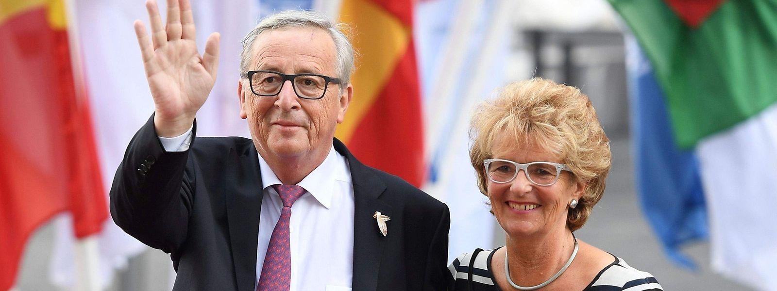 Juncker e a mulher Christiane Frising.